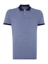 Peter Werth Orwell Stripe Slim Fit Polo Shirt Blue