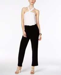 Thalia Sodi Colorblocked Halter Jumpsuit Only At Macy's Deep Black