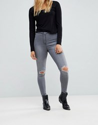 Parisian Ripped Knee Jeans Grey