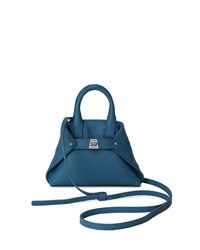 Akris Ai Micro Leather Crossbody Bag Sky
