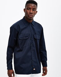 Dickies Long Sleeve Work Shirt Navy