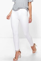 Boohoo Anna High Waisted Disco Jean Cream