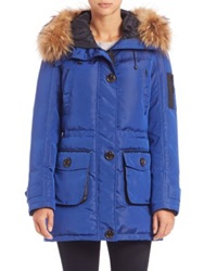 Rainforest Oxford Fur Trimmed Anorak Cobalt