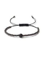 Topman Black Beaded Bracelet