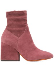 Santoni Side Zip Ankle Boots Pink