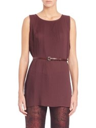 Max Mara Pece Pleated Tunic Plum