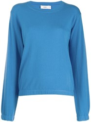 Closed Knitted Jumper Blue