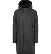 Cos Melange Wool Blend Coat Charcoal