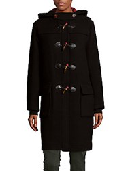 Marc By Marc Jacobs Solid Wool Duffle Coat Black