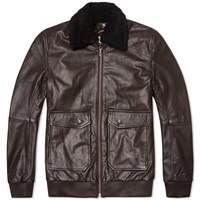 Nudie Jeans Nudie Tjalle Leather Jacket Dark Brown