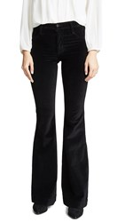 James Jeans Shayebel Velvet High Rise Flares Black Velvet