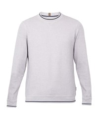 Ted Baker Thersty Textured Cotton Sweatshirt Lilac