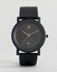 Asos Sleek Watch With Date Window In Black Black