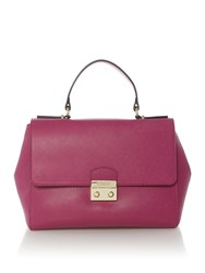 Guess Aria Flapover Tote Bag Pink