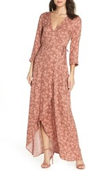 Knot Sisters Monica Wrap Dress Sienna Tulips