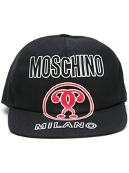 Moschino Double Question Mark Cap Black