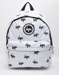 Hype Embroidered Logo Backpack White
