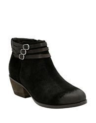 Clarks Leather Straps And Buckle Ankle Boots Black