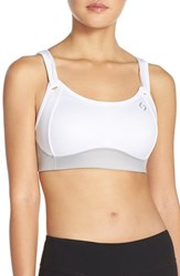 Women's Moving Comfort 'Fiona' Sports Bra Sterling White