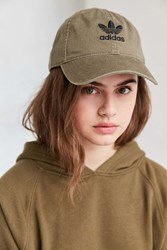 Adidas Originals Relaxed Strapback Baseball Hat Olive