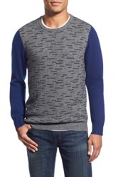 1901 'Dashes' Knit Merino Wool And Cashmere Sweater Gray