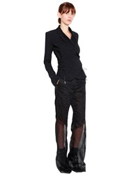 Antonio Berardi Wrap Cady Jacket With Ties Black