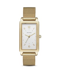 Skagen Hagen Rectangle Mesh Bracelet Watch 22Mm Silver