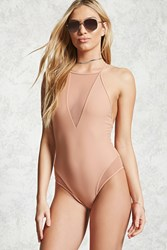 Forever 21 Sheer V Neck One Piece