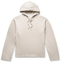 Our Legacy Fleece Back Cotton Jersey Hoodie White