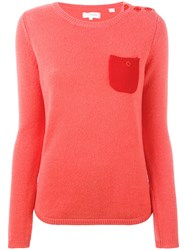 Chinti And Parker One Pocket Sweater Women Cashmere L Yellow Orange