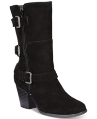 Easy Spirit Kortina Suede Boots Women's Shoes Black Suede