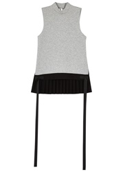 Tim Coppens Grey Pleated Back Cotton Blend Top