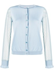 Red Valentino Point D'esprit Tulle Sleeved Cardigan 60