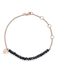 Meira T 14K Rose Gold Mystic Bracelet With Silver Black Spinel Black Rose