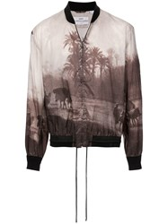Oamc Landscape Bomber Jacket Brown