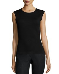 Carolina Herrera Round Neck Fitted Tank Black