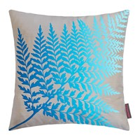 Clarissa Hulse Fern Ombre Cushion 45X45cm Pebble Kingfisher