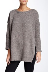 Inhabit Donegal Outdoor Crew Lambswool Blend Sweater Gray