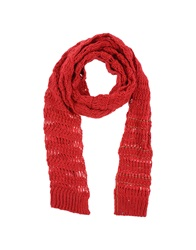 Patrizia Pepe Sera Oblong Scarves Red