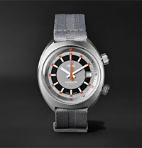 Chronoris Automatic Chronograph 39Mm Stainless Steel And Nato Canvas Watch Ref. No. 01 733 7737 4053 07 5 19 23 Gray