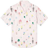 Thom Browne All Over Gnome Print Vacation Shirt Pink