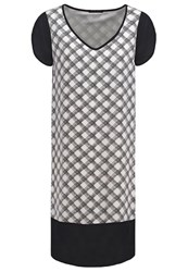 Sisley Summer Dress Black White