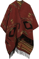 Finds Kiboots Reversible Intarsia Wool Blend Poncho