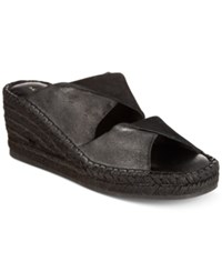 Kelsi Dagger Brooklyn Inwood Wedge Sandals Women's Shoes Black