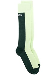 Golden Goose Deluxe Brand Logo Colour Block Socks Green
