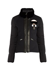 Fendi Karlito Fur Trimmed Performance Jacket Black