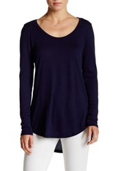 Abound Long Sleeve Basic Tee Blue