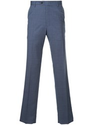 Gieves And Hawkes Slim Fit Tailored Trousers Blue