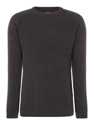 Howick Men's Mabereley Cotton Crew Neck Jumper Charcoal