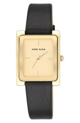 Anne Klein Rectangular Leather Strap Watch 28Mm X 35Mm